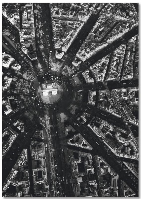 Paris, Noir & blanc, Monuments et vues, Voyages, Paris Aerial bloc-notes