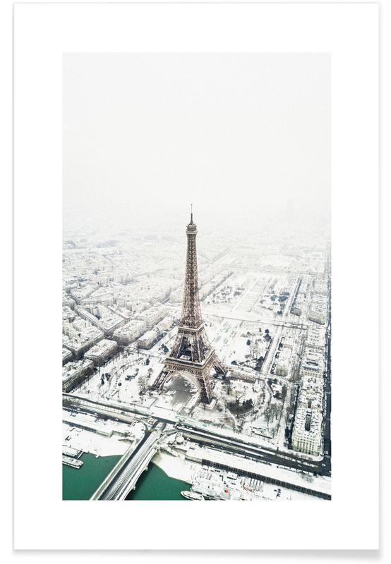 Seværdigheder & landmærker, Paris, Rejser, Paris in Winter Plakat