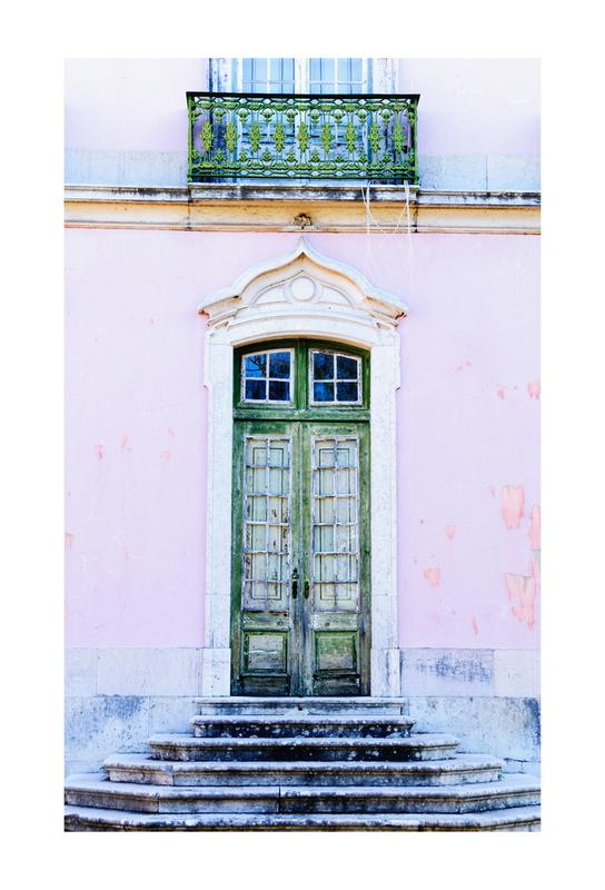 Lisbon Doorway -Alubild