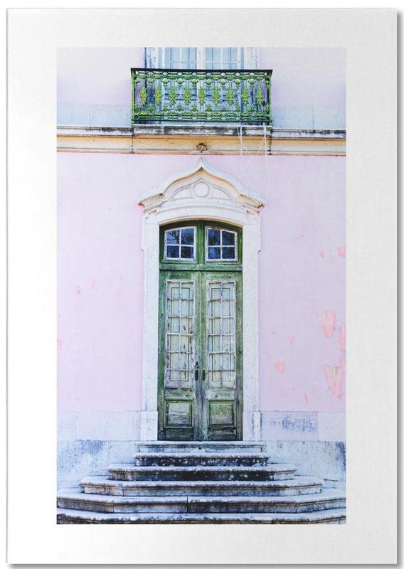 Lisbon, Architectural Details, Travel, Lisbon Doorway Notepad