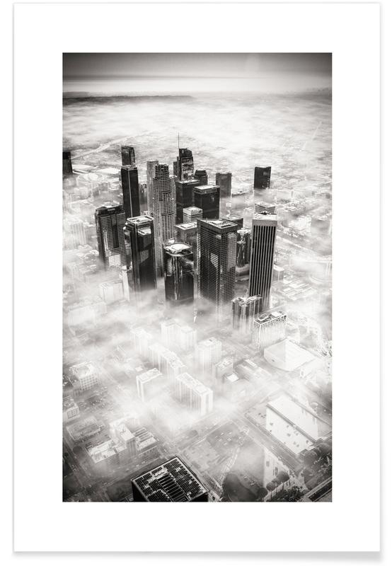 Voyages, Monuments et vues, Noir & blanc, Los Angeles, L.A. from Above affiche