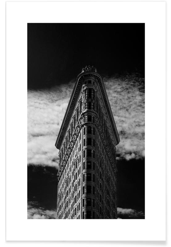 Sort & hvidt, Seværdigheder & landmærker, New York, Rejser, Flatiron Building, New York Plakat