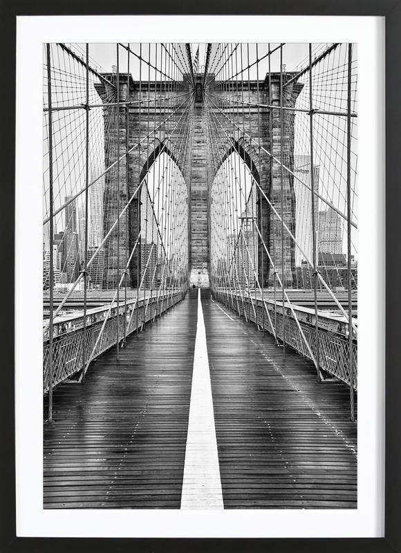 Brooklyn Bridge -Bild mit Holzrahmen