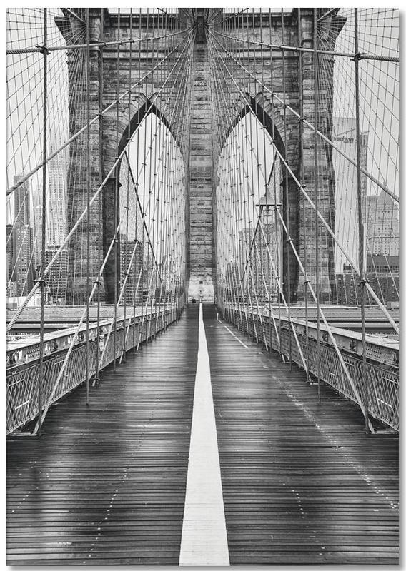 New York, Noir & blanc, Monuments et vues, Voyages, Brooklyn Bridge bloc-notes