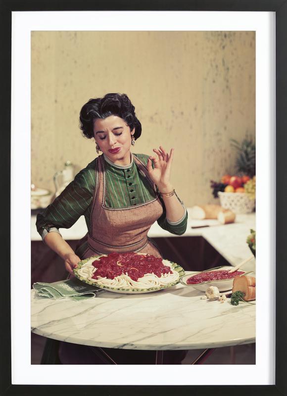 Italian Kitchen Poster i träram