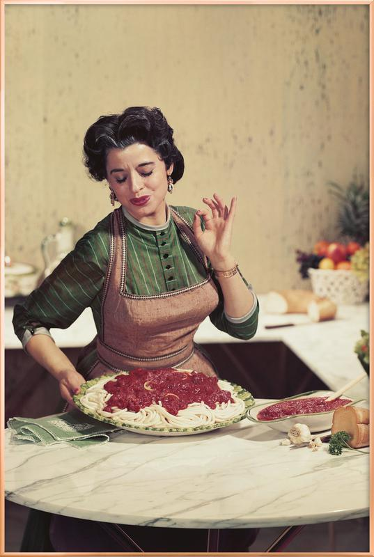 Italian Kitchen Poster i aluminiumram