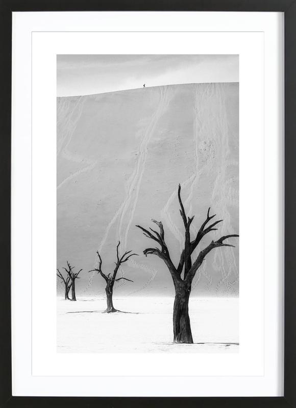 Deadvlei Trees II -Bild mit Holzrahmen