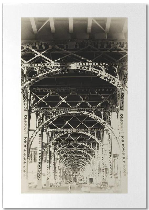 New York, Noir & blanc, Monuments et vues, Riverside, NYC bloc-notes