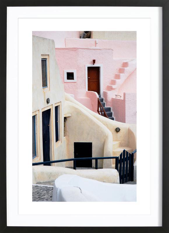 Santorini Poster i träram