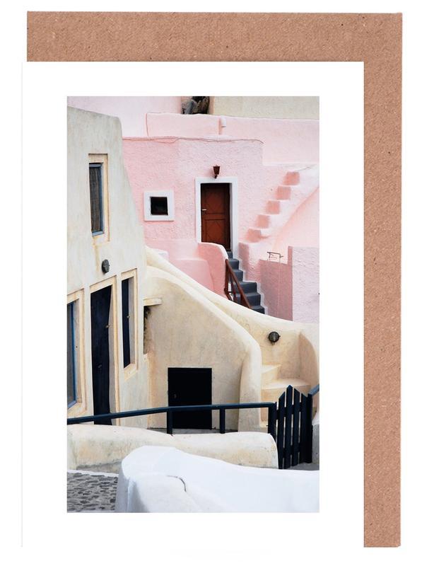 Santorini -Grußkarten-Set