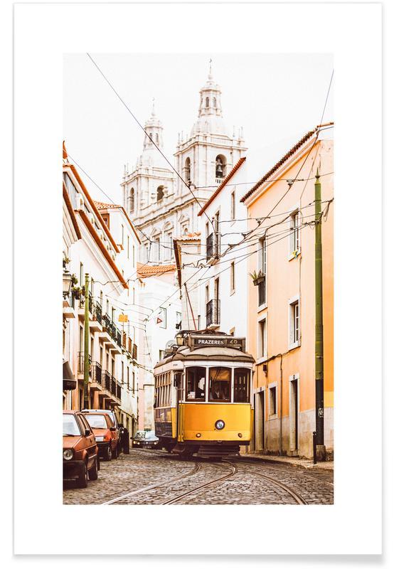 Voyages, Lisbonne, Tramway de Lisbonne affiche