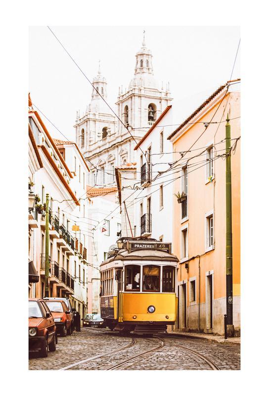 Lisbon Tram -Acrylglasbild