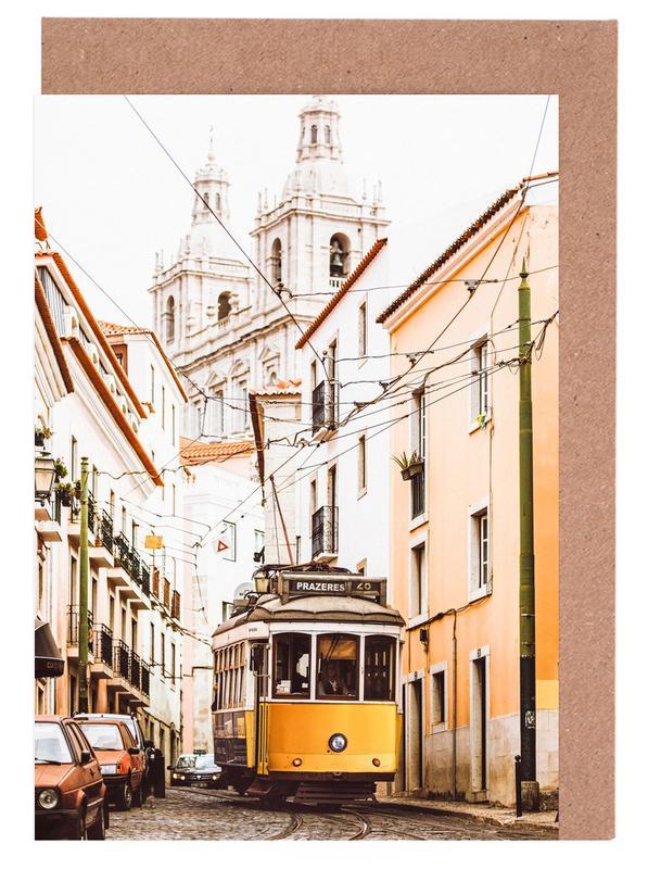 Lisbon Tram -Grußkarten-Set