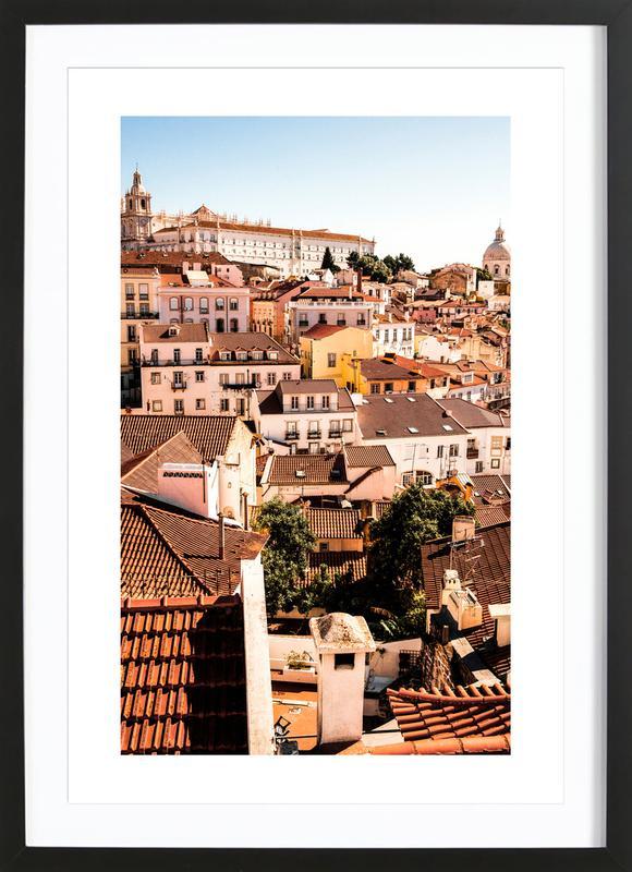 Lisbon Poster i träram
