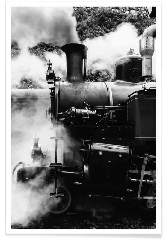 Sort & hvidt, Damptog Plakat