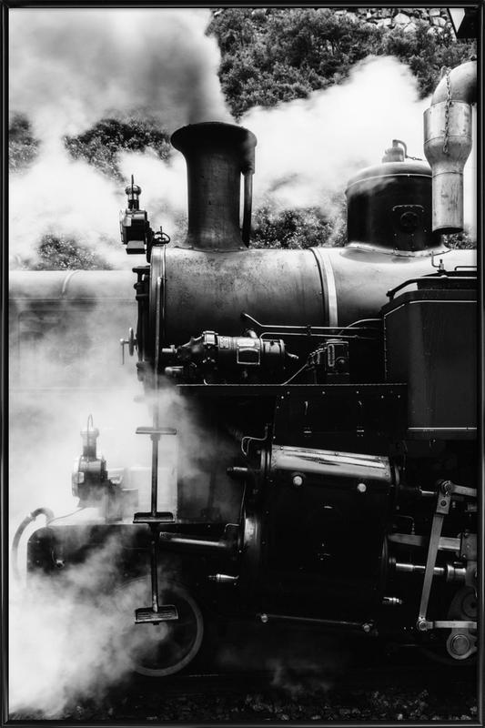 Steam Train Poster i standardram
