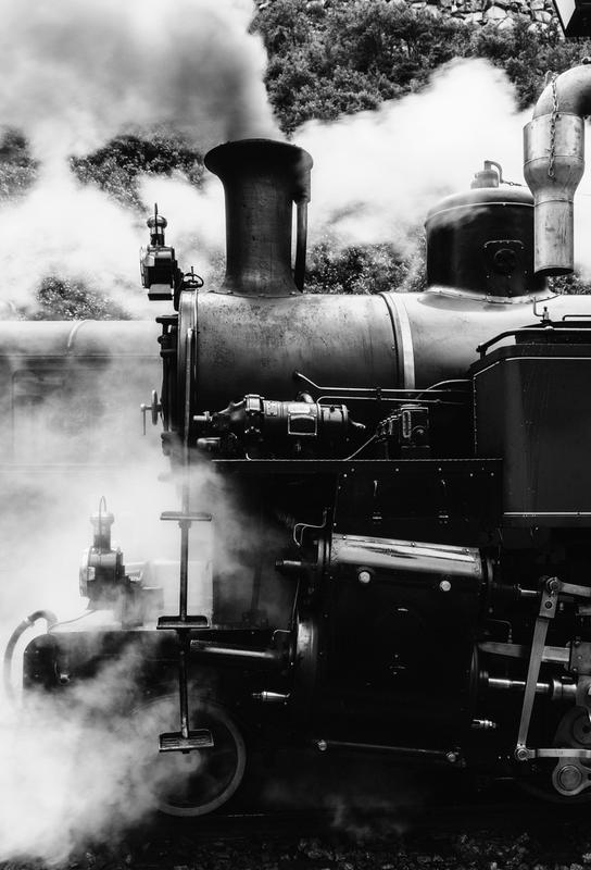 Steam Train Akrylglastavla