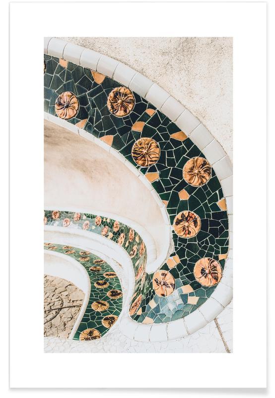 Arkitektoniske detaljer, Barcelona, Barcelona Tiles Plakat
