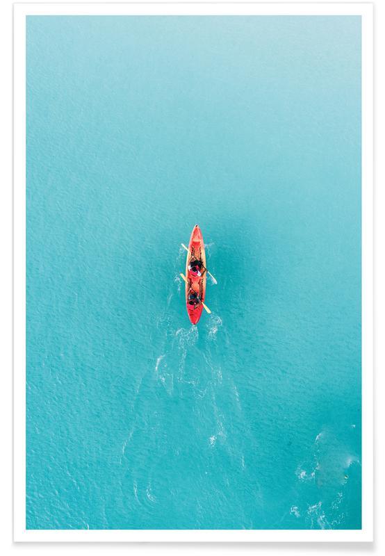 Ozeane, Meere & Seen, Boote, Blue Ocean -Poster