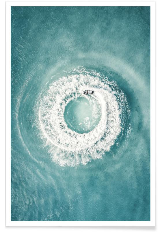 Océans, mers & lacs, Bateaux, Ocean Swirl affiche
