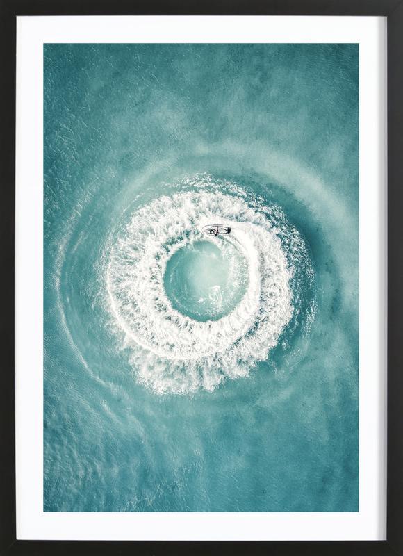 Ocean Swirl Poster i träram