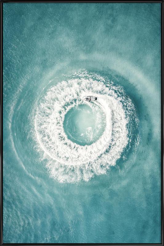 Ocean Swirl Poster i standardram