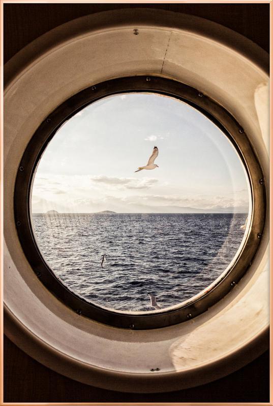 Ocean View -Poster im Alurahmen