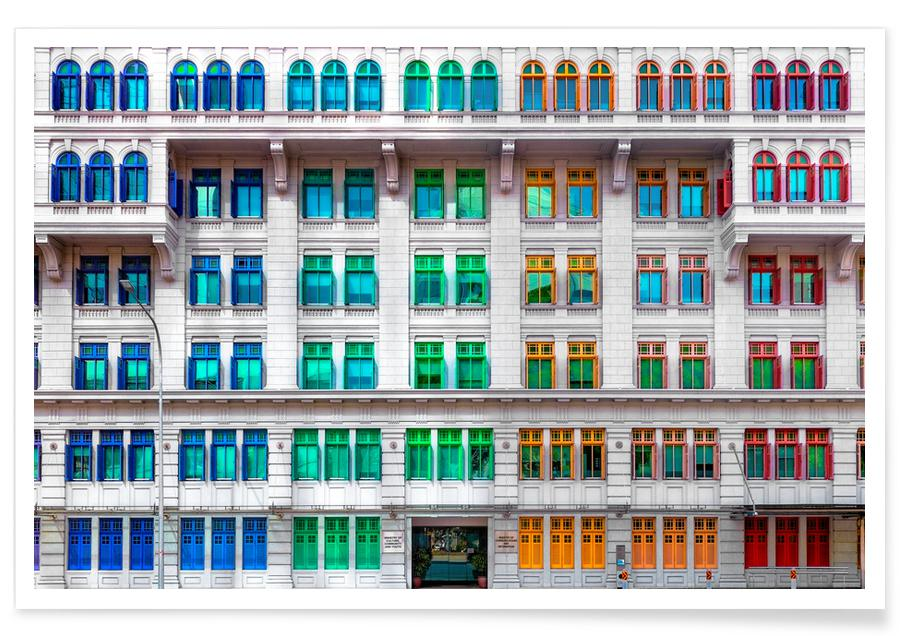 Arkitektoniske detaljer, Rejser, Colours of Singapore Plakat