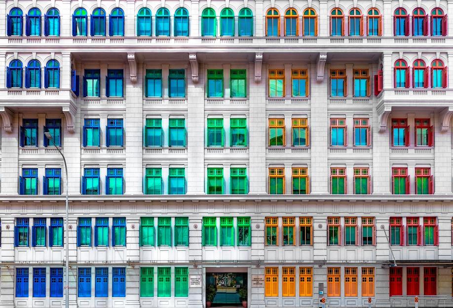 Colours of Singapore -Acrylglasbild