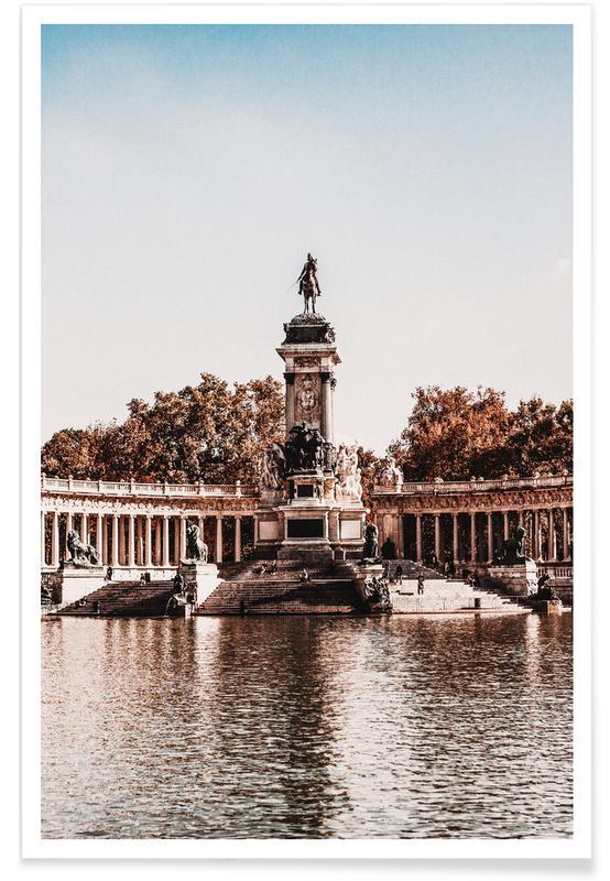 Détails architecturaux, Parque de El Retiro, Madrid affiche
