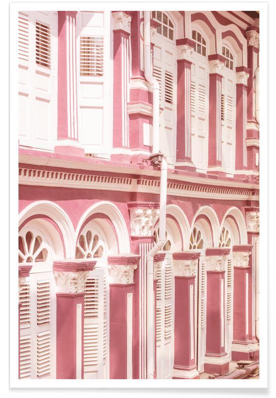 Pink Facade Poster