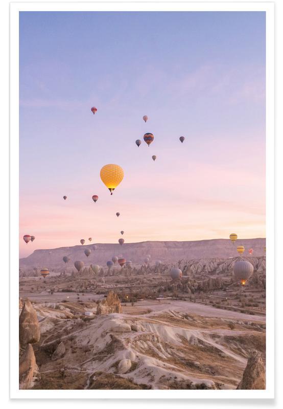 Himmel & skyer, Horisonter, Drømmende, Solnedgange, Exploring the Sky II Plakat