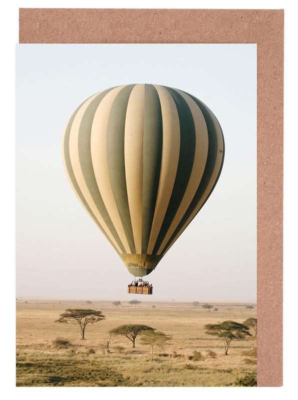 Skylines, Hot Air Balloon Safari Greeting Card Set