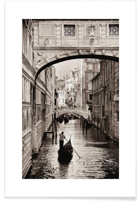 Gondola in Venice affiche