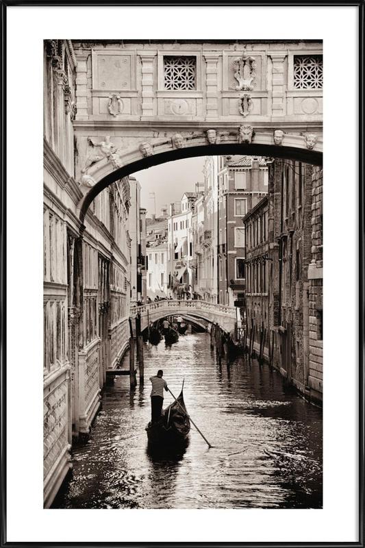 Gondola in Venice Poster i standardram