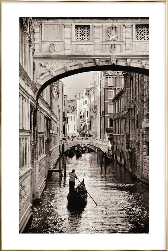 Gondola in Venice Poster i aluminiumram