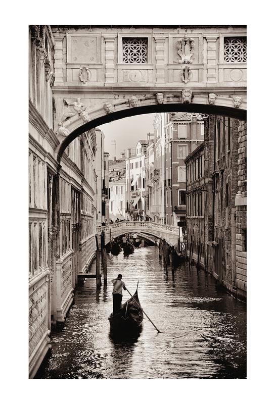 Gondola in Venice Aluminiumtavla