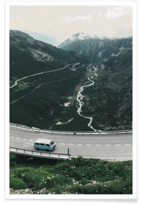 Alpes suisses affiche