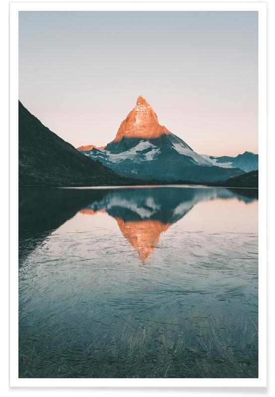 Mountains, Sunrise Reflection Poster