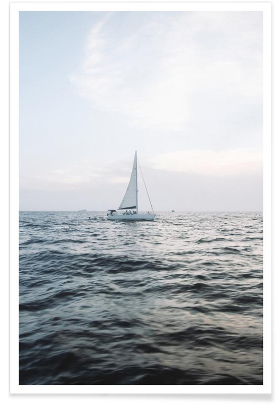 Ocean, Lake & Seascape, Sailing Out Poster