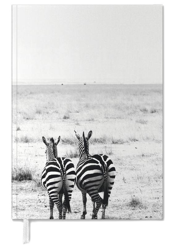 Black & White, Nursery & Art for Kids, Safari Animals, Double Stripes Personal Planner