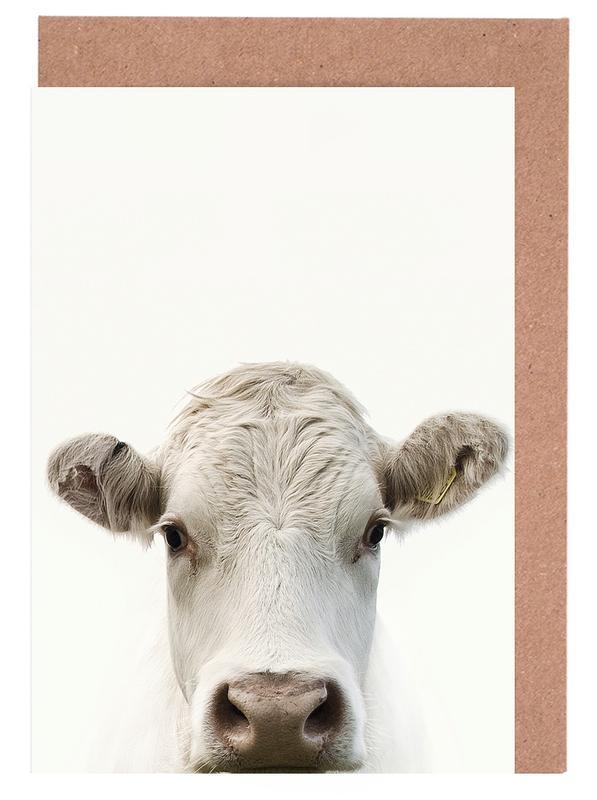 Kühe, Blanche Cow -Grußkarten-Set