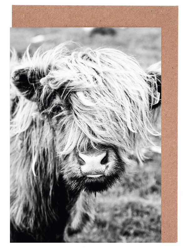 Kühe, Schwarz & Weiß, Moo-dy teen -Grußkarten-Set