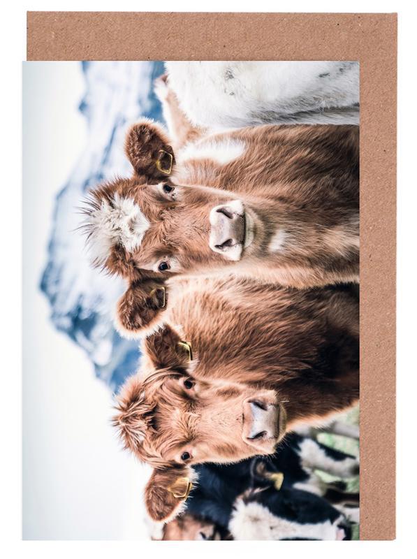 Kühe, Double Trouble -Grußkarten-Set