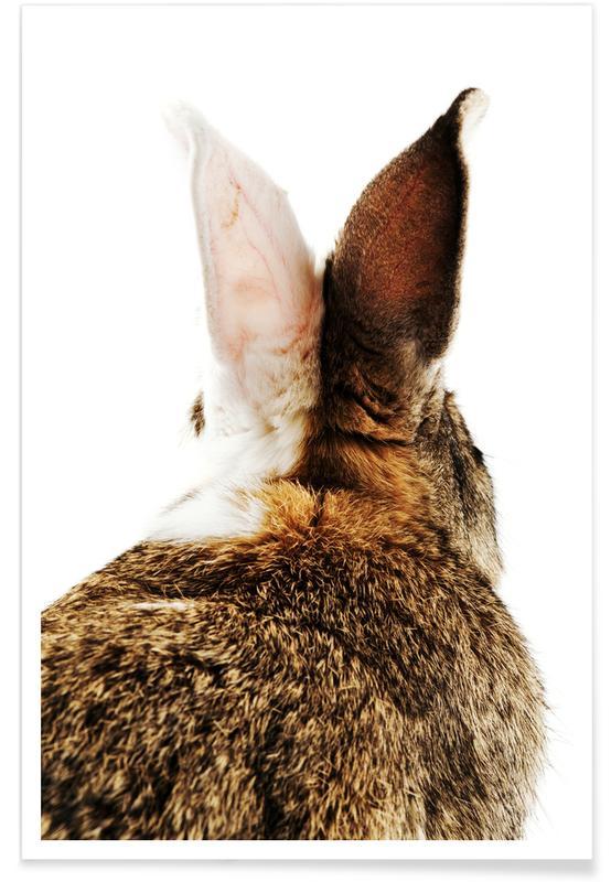Lapins, Art pour enfants, Pâques, Bunny Ears affiche