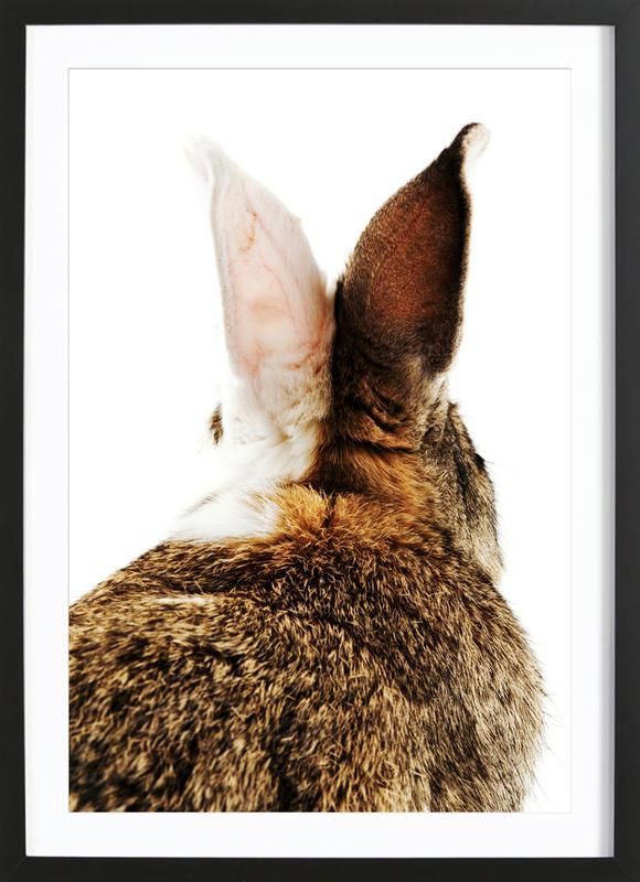 Bunny Ears Poster i träram