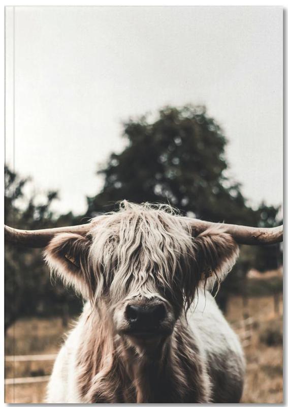 Vaches, Vaches Highland, Boris Highland Cow Notebook