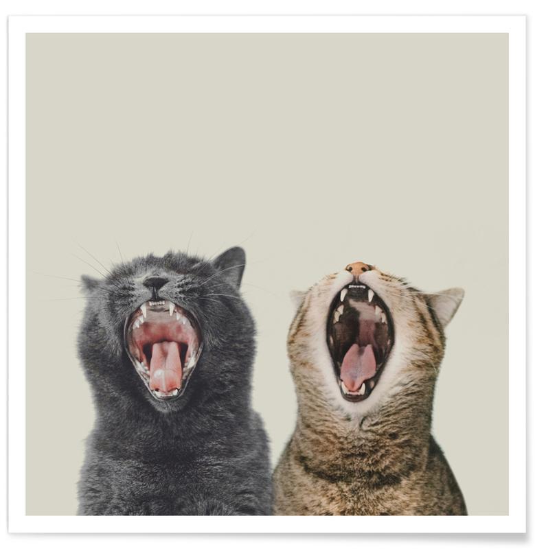 Chats, Art pour enfants, Cat Choir affiche