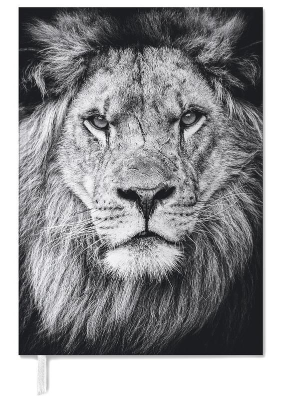 Portrait of a Regal Lion Personal Planner