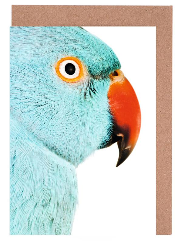 Art pour enfants, Perroquets, Beautifully Blue cartes de vœux